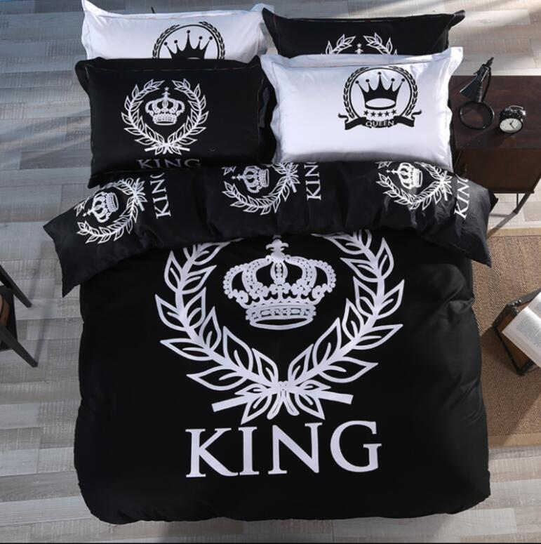 Royal Style Bedding Set Black White Bedlinens For Twin