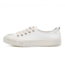 White shoes canvas women wholesale latest canvas shoes for girls