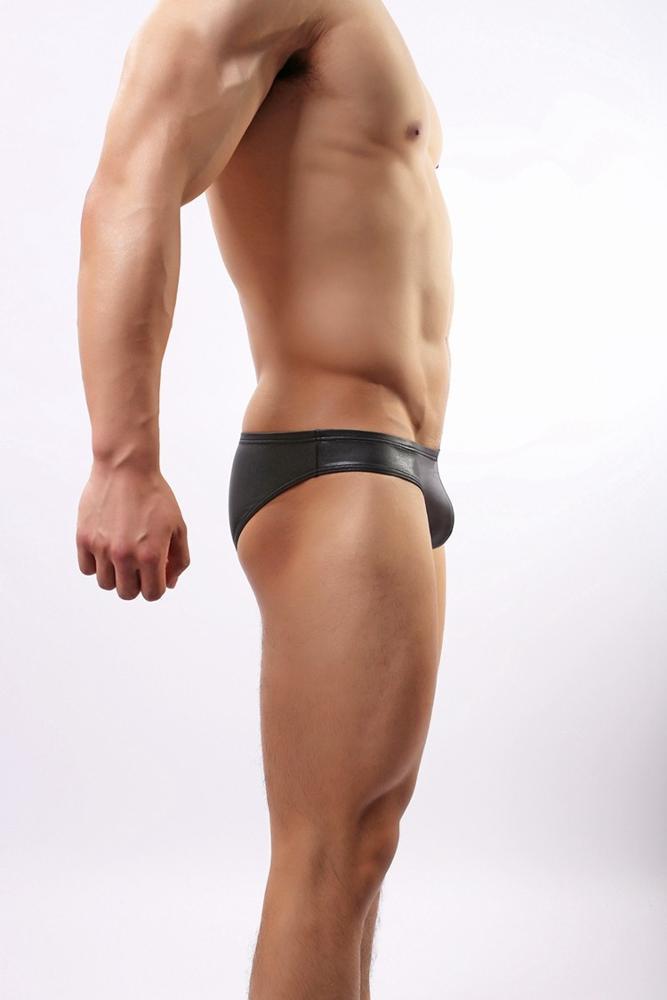 C34 Brand Men's Sexy Exotic Panties Brief Shorts Patent ...