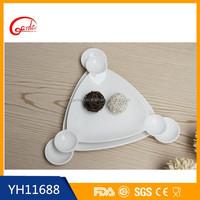 Wholesale white ceramic cheap dessert plate