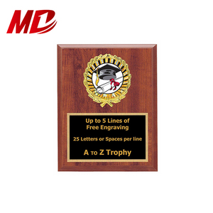 Superior Quality Graduation Wood Plaque Trophy 6x8 Academic Education Trophies Awards