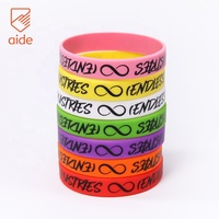 Guangzhou Factory Crafts Colorful Rubber Wrist Band Imprint OEM Silicone Bracelet