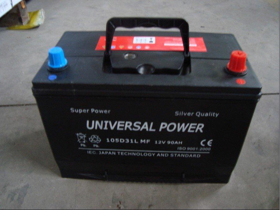 105d31l Mf 12v 90ah Car Battery/jis Car Battery/mf Starting ...