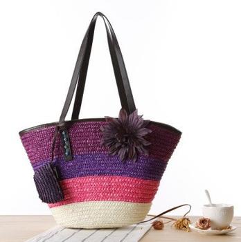 88cd7fabb Listras das mulheres da forma bolsas cor sacos saco de praia bolsa de ombro  grande tote