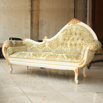 Living Room Sofas Antique White Painted Carved Sofa