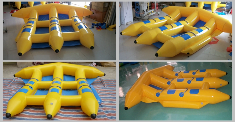 Komersial Inflatable Ikan Terbang Pisang Towable Tabung Perahu Mainan untuk Olahraga Air