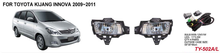 fog light ASSY LED for toyotaS KIJANG INNOVA 2009 2010 2011 2012