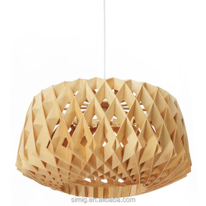 hot sale bird cage wood pendant light D480mm
