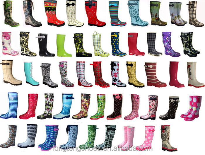 High Quality Fashionable Ladies Rubber Lostland Rain Boots