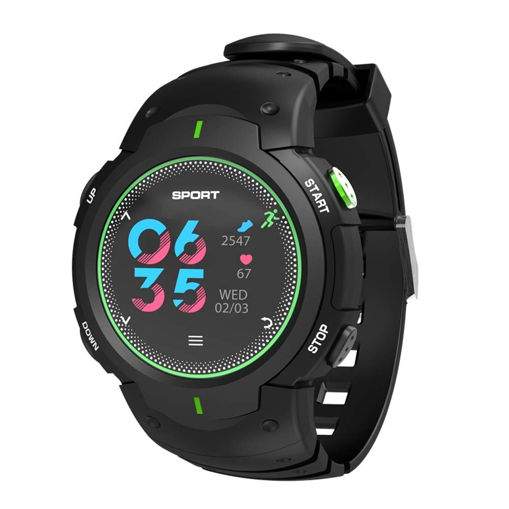 F13 Sports Bluetooth Smart Watch, IP68 Waterproof Pedometer Wrist Watch Smartwatch Fitness Tracker with Heart Rate Monitor for Android iOS Phones Men Women Students (Green)