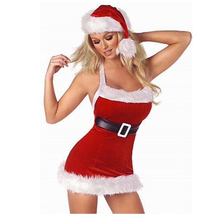 4e502c02226 christmas costumes for women sexy red dress classic christmas party Sweet  Miss Santa Suit Costume christmas costume wholesale