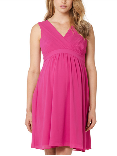 2017 Lola maternity Cocktail Dress in Pink