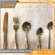Golden stainless steel cutlery fork knife spoon flatware set from Chinese top supplier