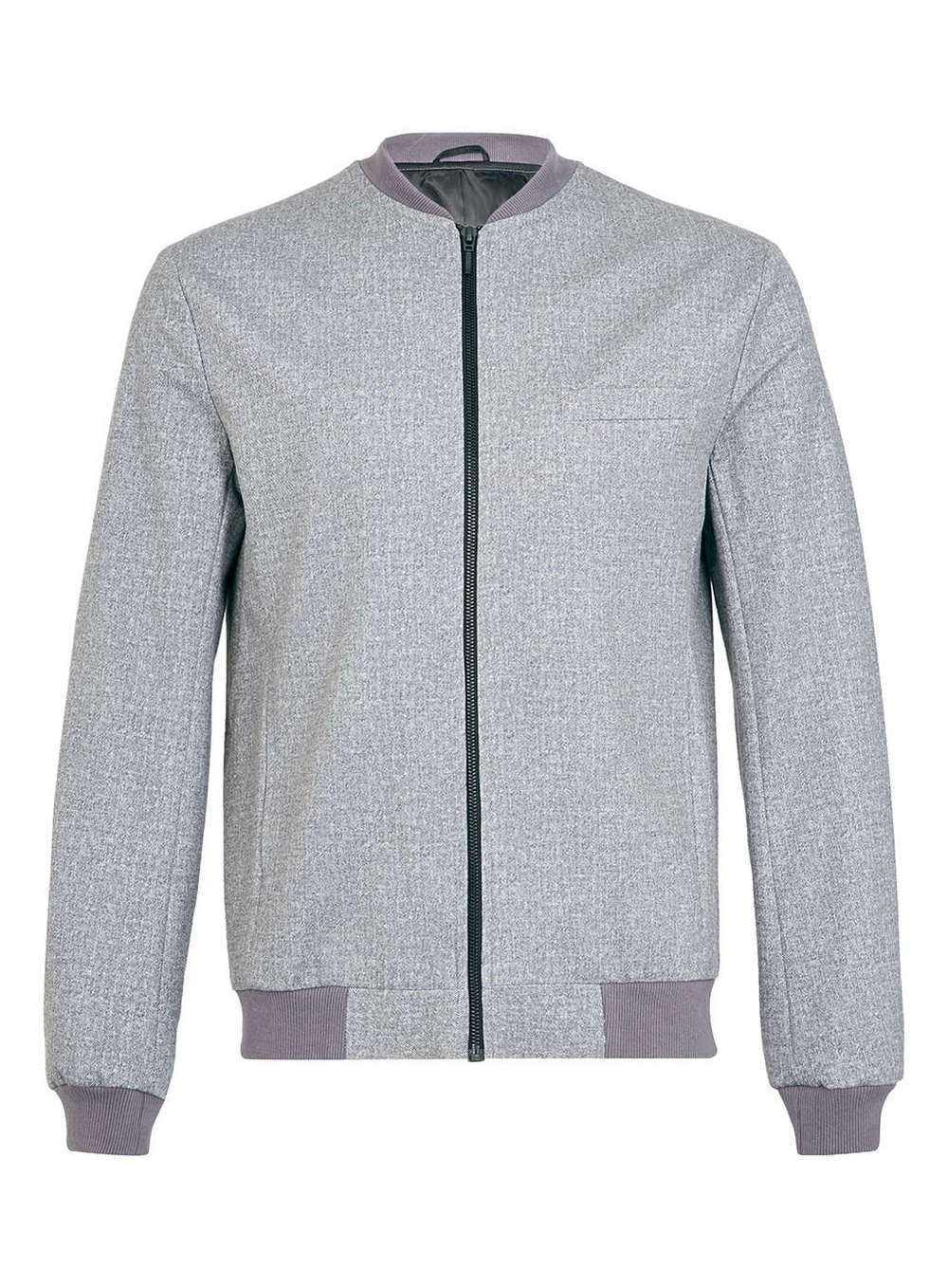 Oem High Quality Grey Jersey Bomber Jacket/custom Casual Grey ...
