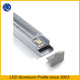 waterproof IP67 Anodized Aluminium channel for LED Strip Light Cover PVC profile,low profile led can lights