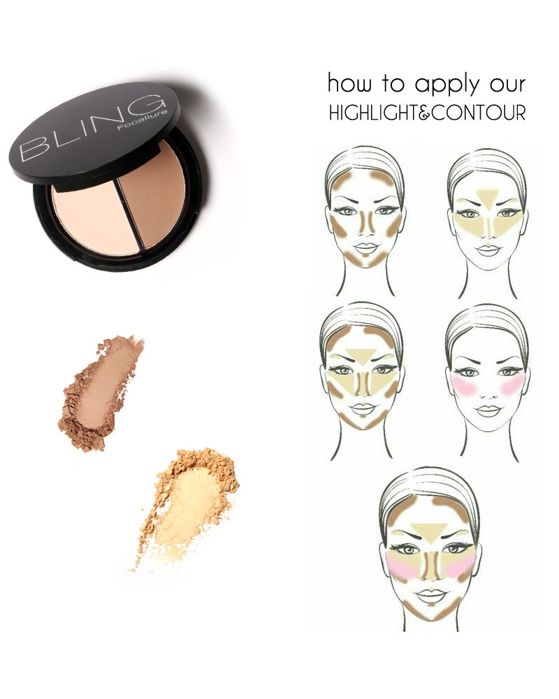 Wholesale Focallure Bling Shimmer Bronzers And