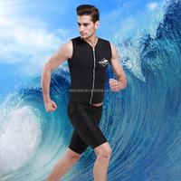 The wetsuit top for men ,Black men sleeveless wetsuit top.neoprene top