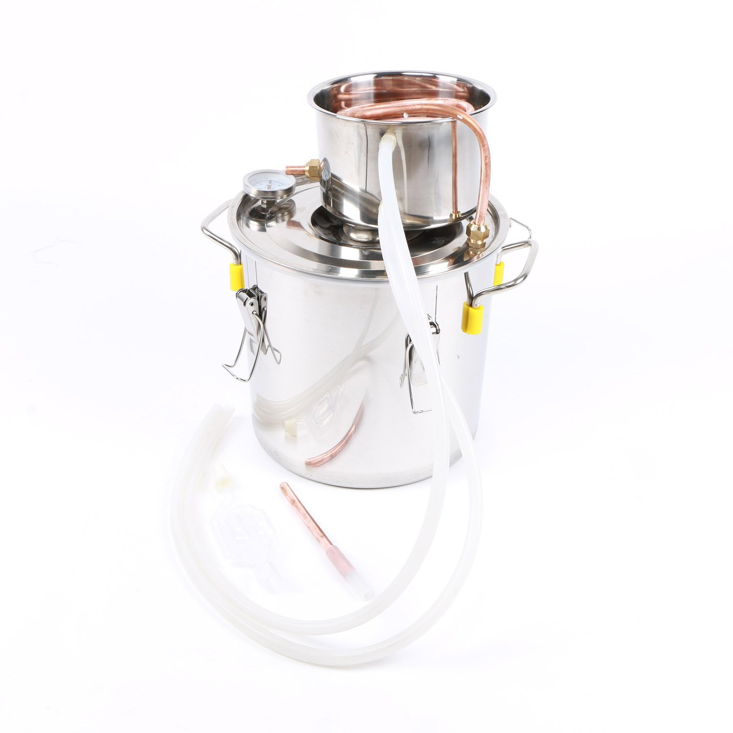 Home Distilling Kit- 10L Still, Make Distilled Spirits at Home, Moonshine, Water, and Whiskey Distilling Equipment, a U.S. Solid Product