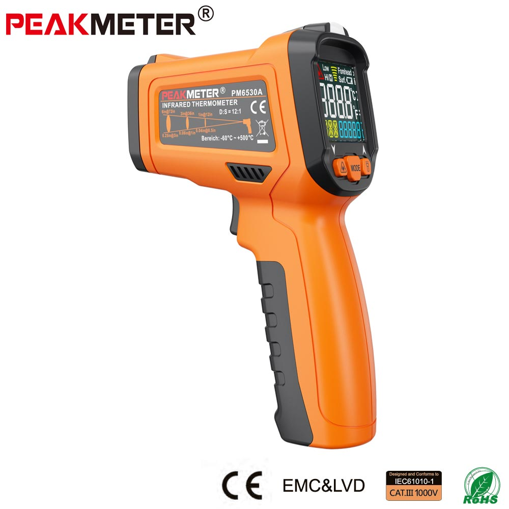 Non-contact digital laser IR thermometer PM6530A Infrared Thermometer industrial digital laser infrared thermometer