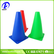 "red 9"" inch sport cones safety cone field taining soccer athletic basketball dribbling training equipment"