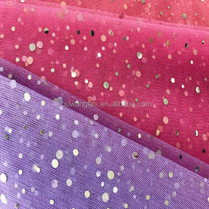 100% Polyester Organza Fabric Sequin Fabric
