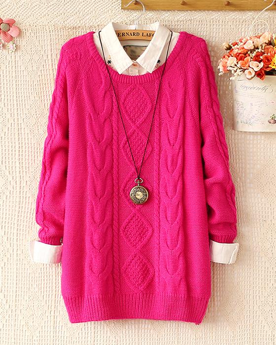 Fashion Warm Winter Pullover Women Sweater Women Vintage