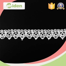 3d flower lace embroidered cotton lace fabric indian lace trim
