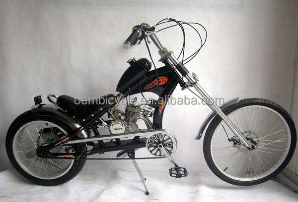 24inch 80cc disc brake moped/ chopper motorized <strong>bicycle</strong> wholesale