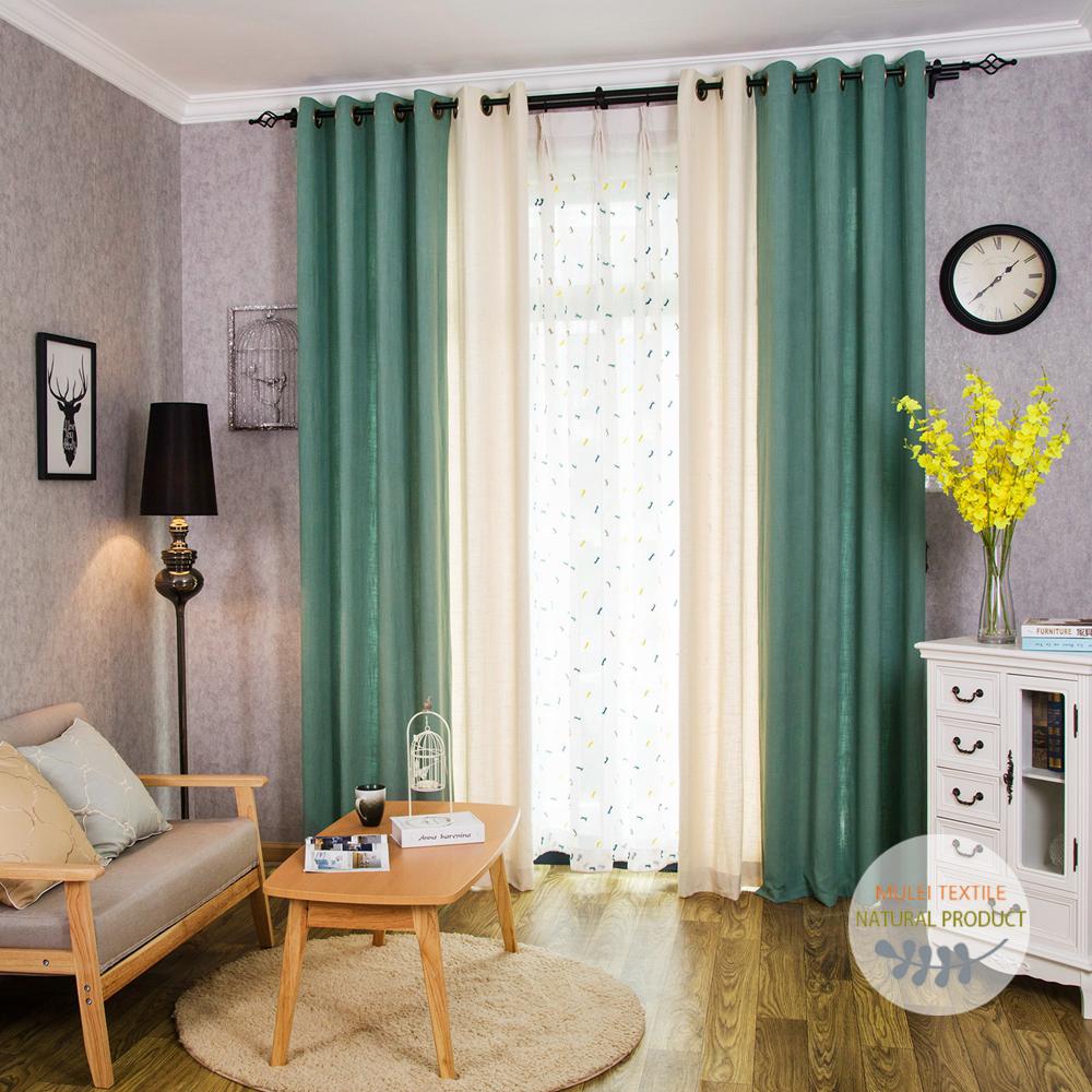 shaoxing mulei de lujo sala de estar cortinas de lino de encargo hecho en china