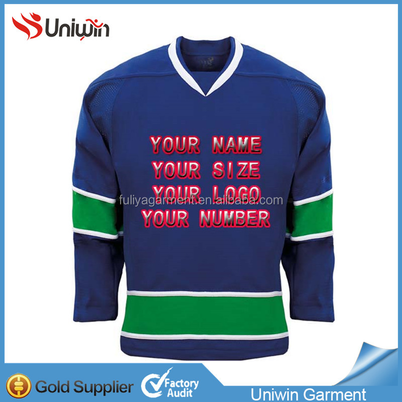 100% Polyester Embroidery San Jose Sharks Ice Hockey Jersey