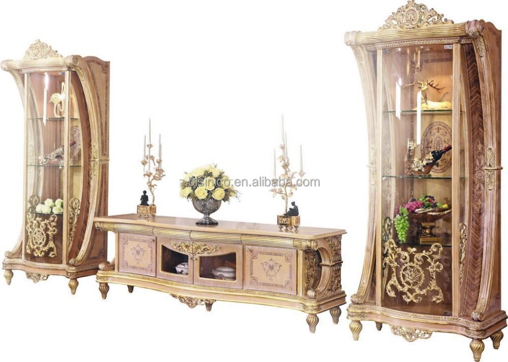 Bisini francés de lujo barroco sala tabla de consola con espejo ...