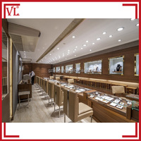 Classical brown jewellery shops interior design images