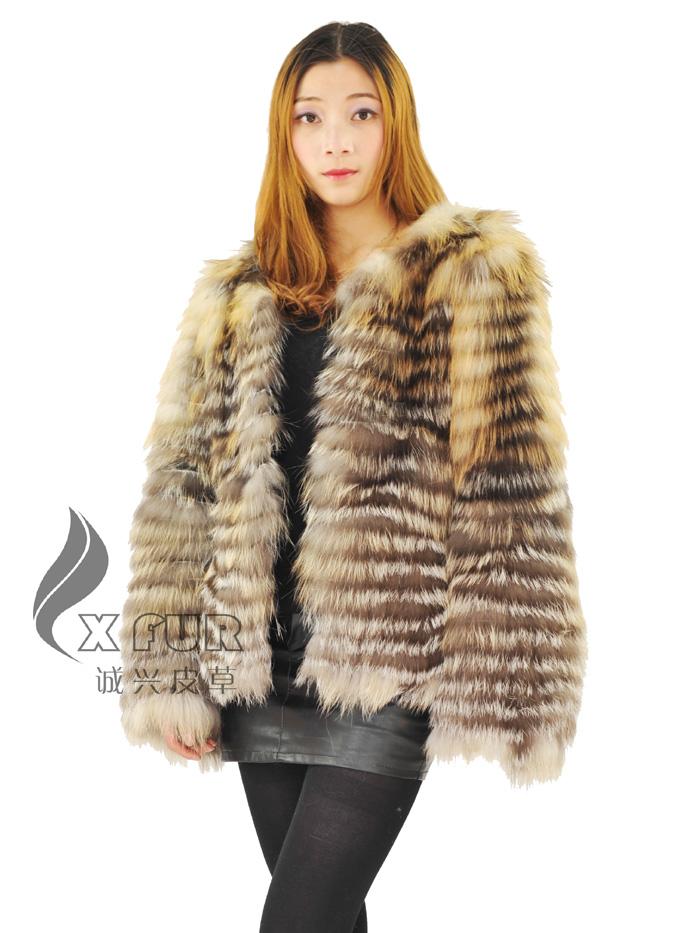 elegante cxga nutural de oro de piel de zorro para chaquetas de