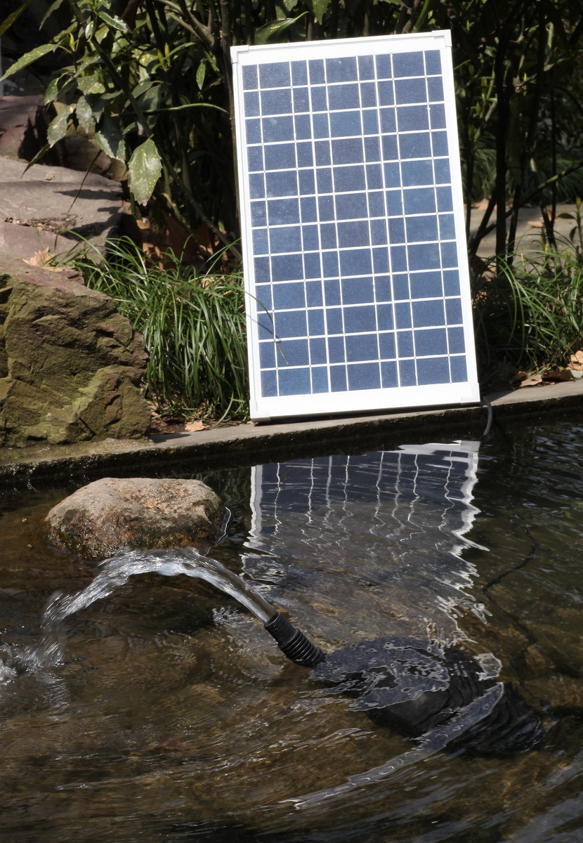 Electricity cost free head 655gph flow rate solar for Pond fountains for sale