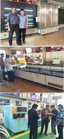 Double head welding UPVC window door making machine