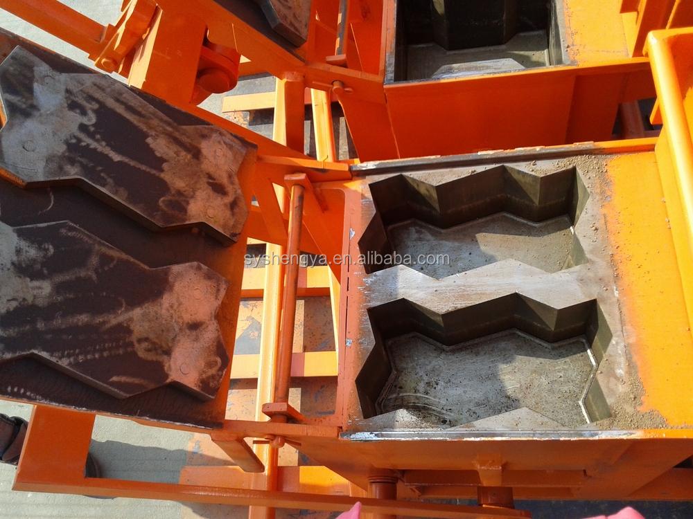 Blocks Interlocking Press Earth Us : Shandong shengya qmr clay interlocking brick machine