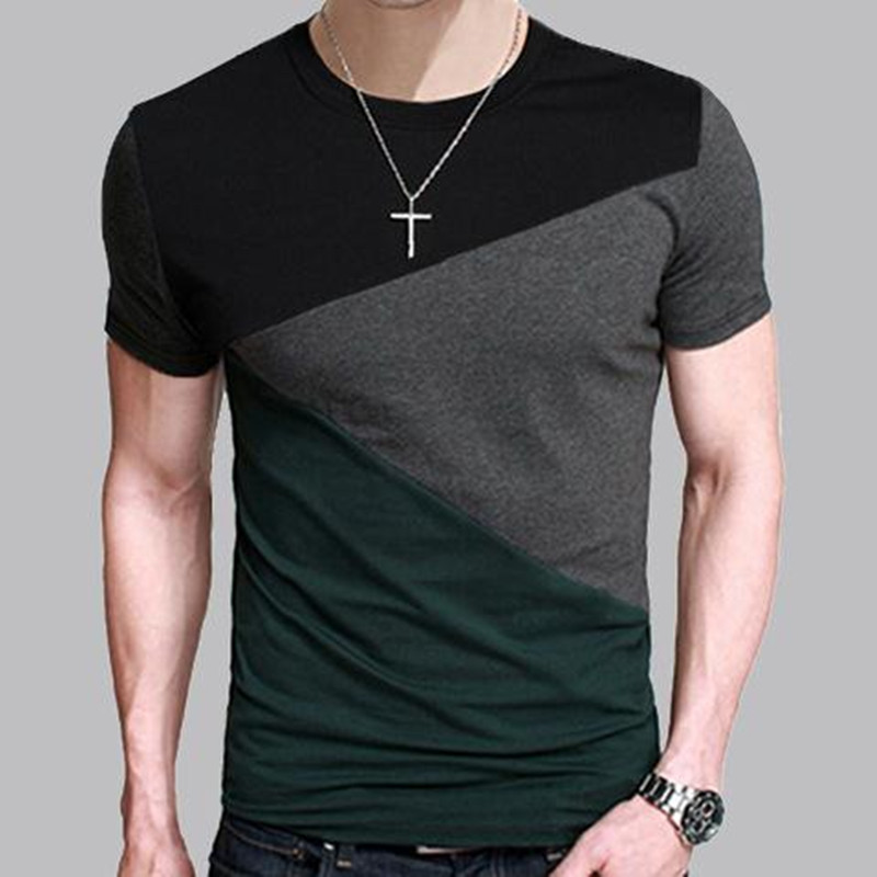8 Designs Mens T Shirt Slim Fit Crew Neck T shirt Men Short Sleeve Shirt Casual