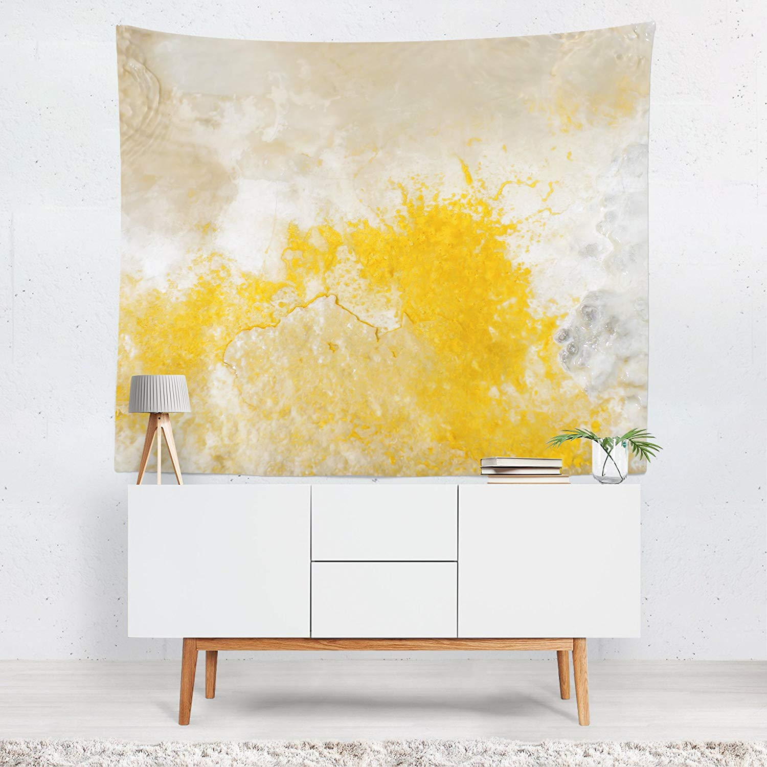 Abstract Art Wall Tapestry, Modern Home Wall Hanging, Nature Texture, Yellowstone Geyser Art, Large Rock Texture, Marble, Stone Textures