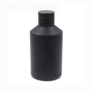 cosmetic bottle packaging toner 125ml 200ml matte/frosted black cosmetic glass bottle with stopper and cap