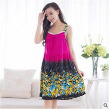 Ночная рубашка женская, летняя, элегантная, большого размера(Китай)