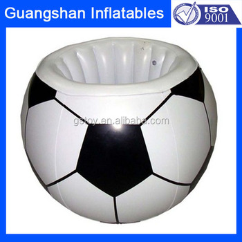 Inflatable Plastic Soccer Ice Bucket Ice Cooler Box