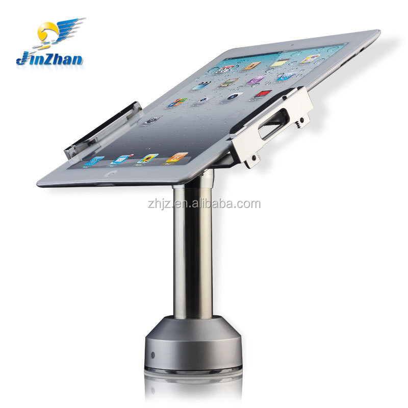 Adjustable clamp anti-theft holder with lock 360 degree rotation,display cradle for tablet pc