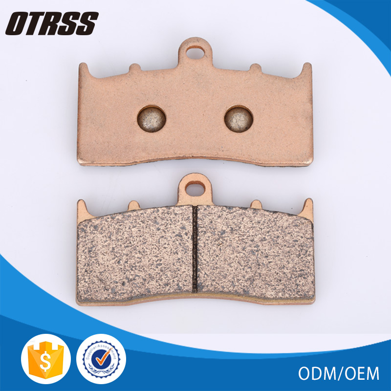 Sintered metal motorcycle disc friedly front brake pad for K 1300 R