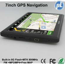 Newest 7inch Gps navigation touch screen car gps navigation MTK 800MHz 8G flash mp3/mp4 players gps navigator free Russia map