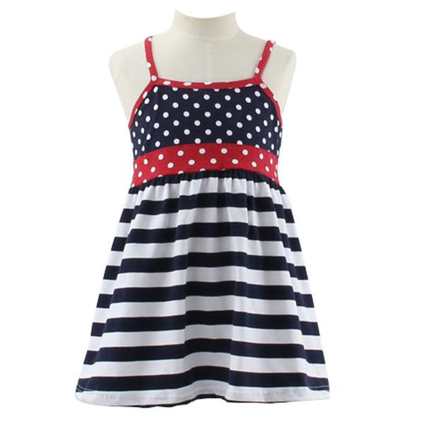 2015 New Designs Baby Cotton Frocks Kids Summer Wear American Flag ...