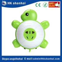 5 Hole Plug Charger cute turtle LED night light with dual USB wall charger voice control sensor nightlight