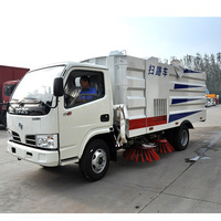 High Pressure Road Washing And Sweeping Truck Vacuum Road Sweeper Truck