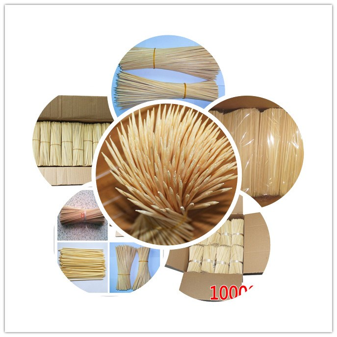 Long Sticks Natural Bamboo Round Skewers/excellent Quality Factory ...