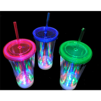 New Products Plastic Led Light Up With Straw For Party Decorative