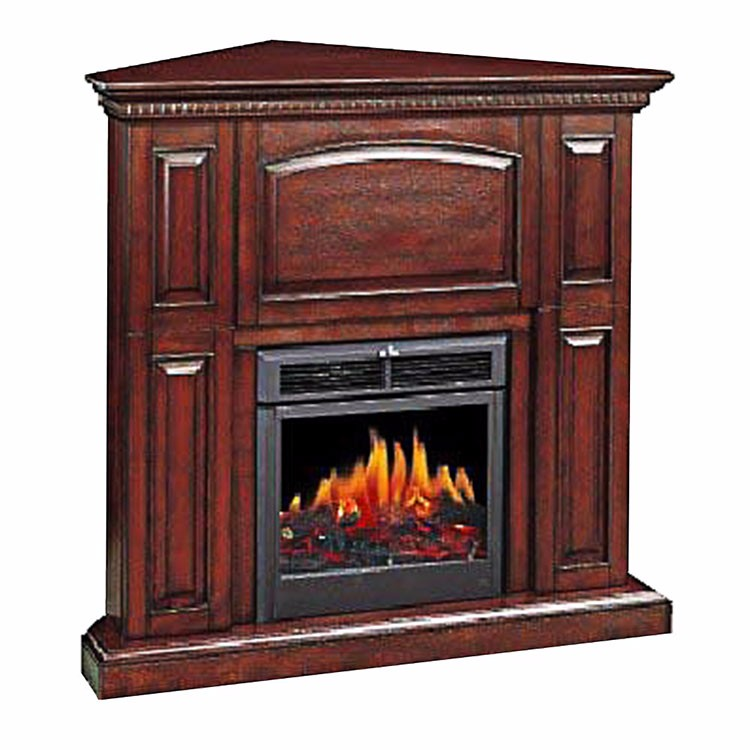Eco friendly gs approved realistic fake logs white corner for Eco friendly fireplace